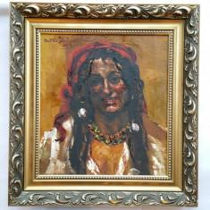 OCTAV BANCILA - pictor national - TIGANCA - 1929 - ulei / pinza