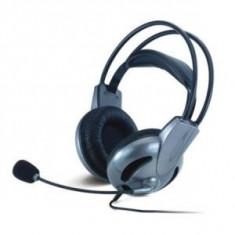 CASCA CU MICROFON GENIUS; model: HS-04SU; NEGRU; - Casca PC