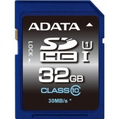 SD CARD ADATA; model: ASDH32GUICL10-R; capacitate: 32 GB; clasa: 10; culoare: NEGRU - Secure digital (SD) card