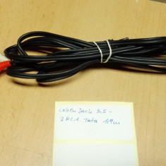 Cablu Jack 3, 5 - 2RCA 1, 9 m