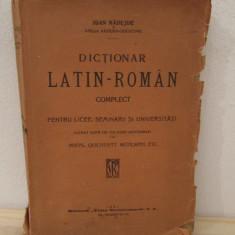 Dictionar Latin-Roman Complect - Ioan Nadejde( cu semnatura autorului, an 1913)