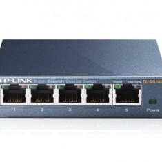 SWITCH TP-LINK; model: TL-SG105; PORTURI: 5 x RJ-45 10/100/1000 METAL CASE