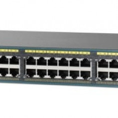 SWITCH cu management, CISCO model: CATALIST2960; PORTURI: 48 x RJ-45 10/100; 2 x SFP ;