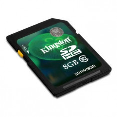SD-HC CARD KINGSTON; model: SD10V/8GB; capacitate: 8 GB; clasa: 10; culoare: NEGRU - Secure digital (SD) card