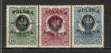 Polonia.1918 Timbre Austria-supr. 1 buc. defecta  SP.68, Nestampilat