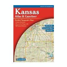 Kansas - Delorme 1st / - Carte in engleza