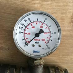 Manometru gaz Wika, 0-100 mbar, diam 63mm
