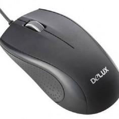 Mouse DELUX; model: DLM-375; NEGRU; USB
