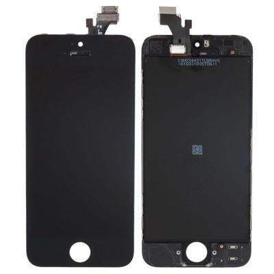 Display LCD Touchscreen iPhone 5S Alb Negru NOU LCD ecran afisaj Touch Ansamblu foto