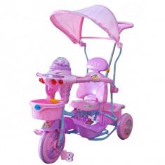 Tricicleta EURObaby 2890AC - Roz - Tricicleta copii