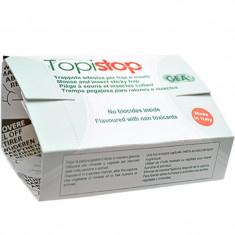 Capcana adeziva din carton cu atractant pentru rozatoare mici Topi Stop