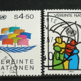 NATIUNILE UNITE VIENA 1985 – LUPTA PENTRU PACE, serie stampilata UN72 - Timbre straine, Nestampilat