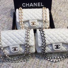 Genti Chanel Classic Flap 2.55 * Chain 3 Colors * - Geanta Dama Chanel, Culoare: Din imagine, Marime: Medie, Geanta de umar, Piele