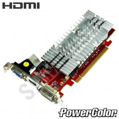 Placa video PowerColor HD3450 256MB DDR2 64-Bit, DVI, VGA, HDMI, GARANTIE ! - Placa video PC Powercool, PCI Express, Ati