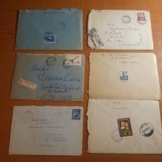 lot 6 plicuri circulate anii '60 - in toate plicurile sunt si scrisori (23)