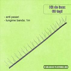 Banda anti pasari inox (60 de tepi, 1 m lungime)