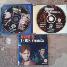 Joc pentru consola retro, SEGA DREAMCAST, PAL, RESIDENT EVIL CODE VERONICA - Jocuri Sega, Actiune, 12+, Single player