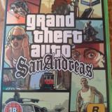 Vand joc XBOX, GTA SAN ANDREAS, PAL, ENGLEZA, ca nou, complet - Jocuri Xbox