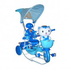 Tricicleta EURObaby HQ2001 - Albastru - Tricicleta copii