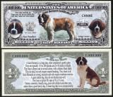 NOU : SUA = FANTASY NOTE = SAINT BERNARD - 2016 - UNC / SERIA DOG LOVER