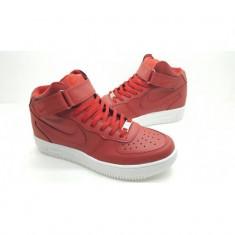 Ghete Nike Air Force - Ghete barbati Nike, Marime: 41, Culoare: Rosu, Piele sintetica