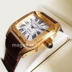 Cartier Santos Automatic ! ! ! Calitate Premium ! - Ceas barbatesc Cartier, Lux - elegant, Mecanic-Automatic, Inox, Piele, Analog