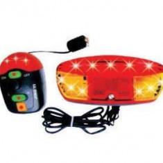 Alarma + Semnalizare JY-208B (11 Led-uri 8 Melodii)PB Cod:MXR50001.4 - Accesoriu Bicicleta