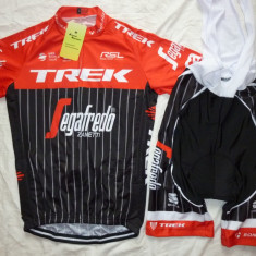 Echipament ciclism Trek Segafredo 2017 set pantaloni si tricou costum Nou