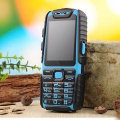 Telefon Land A6 Dual Sim, Baterie 9800mha, Waterproof, Dustproof, Shockproof, N O U, Albastru, Nu se aplica, Neblocat, Fara procesor