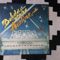 Balada pentru Adeline album disc vinyl lp Radu Alexandru Simu pian Muzica Pop electrecord, VINIL