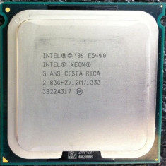 Procesor Intel Xeon E5440 Quad Core 2.83GHz md sk 775 performante Q9550-Q9650 - Procesor PC Intel, Intel Core 2 Quad, Numar nuclee: 4, 2.5-3.0 GHz, LGA775