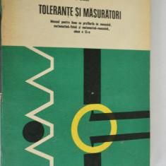 TOLERANTE SI MASURATORI - D. Dragu - 1978