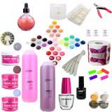 Set kit unghii false gel Consumabile 36 geluri colorate base one degresant ulei - Gel unghii