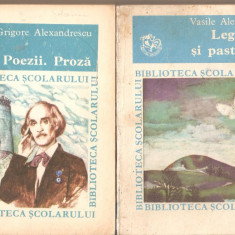 V.Alecsandri-Legende si pasteluri+G.Alexandrescu-Poezii.Proza - Carte Proverbe si maxime