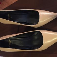 Pantofi Mango piele nr. 37 - Pantof dama Mango, Culoare: Bej