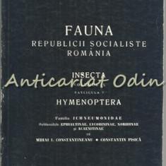 Fauna R.S.R. Vol. IX Fasc. 7 Insecta (III). Hymenoptera. Fam. Ichneumonidae - Carte Medicina veterinara