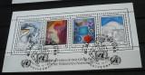 NATIUNILE UNITE VIENA 1986 – PICTURA ABSTRACTA WFUNA, BLOC STAMPILAT, N7