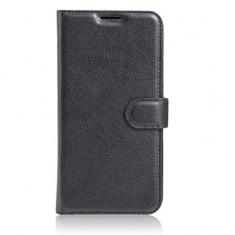 Husa Lenovo K6 Note Flip Case Inchidere Magnetica Black - Husa Telefon Lenovo, Negru, Piele Ecologica, Cu clapeta, Toc