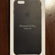 """Carcasa spate Apple, pentru iPhone 6 Plus/6S Plus, 5.5"""", piele neagra, Negru"""