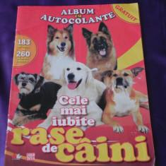 Album pentru autocolante Cele mai iubite rase de caini (f0885