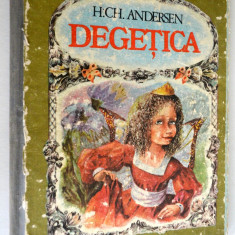 Carte povesti - Degetica - cartonata - uzata - 1988 - Carte de povesti