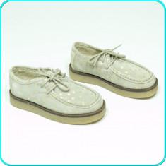 DE FIRMA _ Pantofi / mocasini, PIELE, comozi, calitate ZARA _ fete | nr 29 - Pantofi copii Zara, Culoare: Bej, Piele intoarsa