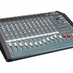 MIXER PROFESIONAL 12 CANALE DE PUTERE MARE 1300 WATT, USB MP3 PLAYER, EFECTE VOCE - Mixer audio