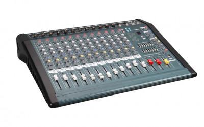 MIXER PROFESIONAL 12 CANALE DE PUTERE MARE 1300 WATT ,USB MP3 PLAYER,EFECTE VOCE foto