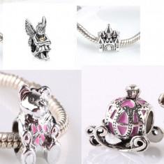 SET 4 charm URSULET CALEASCA ZANA CASTEL pentru Bratara PANDORA - Bratara argint pandora, Femei