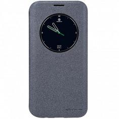 Husa piele Samsung Galaxy S7 edge G935 Nillkin Sparkle View Gri Blister Originala - Husa Telefon