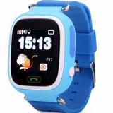 Resigilat! Ceas Telefon Smartwatch cu GPS Tracker pentru copii iUni Kid100, Alarma SOS, LCD 1.22 Inch, Touchscreen, Albastru