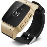 Resigilat! Smartwatch cu GPS pentru copii si seniori, telefon cu SIM card iUni U100, Pedometru, Notificari, Wi-fi, Champagne Gold