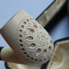 Pipa din spuma de mare in cutia originala VINTAGE