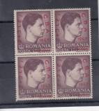 ROMANIA 1947 LP 220 CAMPIONATELE BALCANICE DE ATLETISM SUPRATIPAR BLOC 4 TB MNH